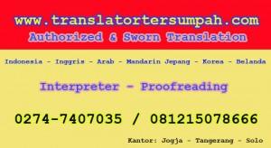 Penerjemah tersumpah resmi