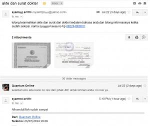 Order terjemahan tersumpah indonesia arab kilat