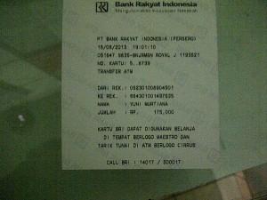 Contoh order dari Banjarmasin